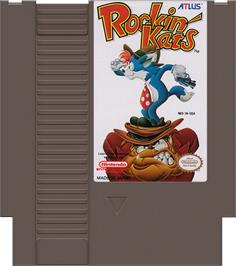 Cartridge artwork for Rockin' Kats on the Nintendo NES.