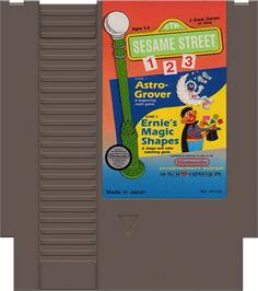 Cartridge artwork for Sesame Street 1 2 3 on the Nintendo NES.