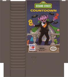 Cartridge artwork for Sesame Street Countdown on the Nintendo NES.