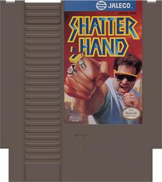 Cartridge artwork for Shatterhand on the Nintendo NES.