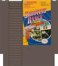 Cartridge artwork for Shooting Range on the Nintendo NES.
