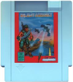 Cartridge artwork for Silent Assault on the Nintendo NES.