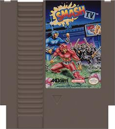 Cartridge artwork for Smash T.V. on the Nintendo NES.