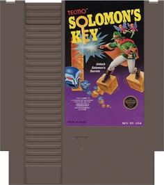 Cartridge artwork for Solomon's Key on the Nintendo NES.