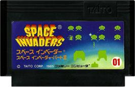 Cartridge artwork for Space Invaders on the Nintendo NES.