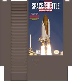 Cartridge artwork for Space Shuttle Project on the Nintendo NES.