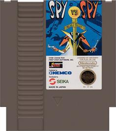 Cartridge artwork for Spy vs. Spy on the Nintendo NES.