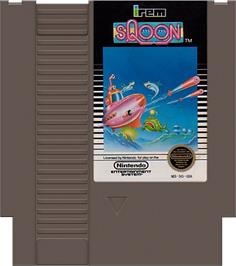 Cartridge artwork for Sqoon on the Nintendo NES.
