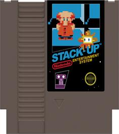 Cartridge artwork for Stack Up on the Nintendo NES.
