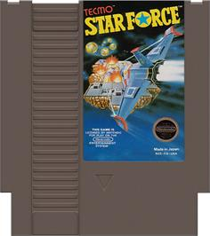 Cartridge artwork for Star Force on the Nintendo NES.