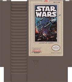 Cartridge artwork for Star Wars on the Nintendo NES.