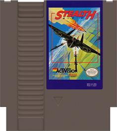Cartridge artwork for Stealth ATF on the Nintendo NES.