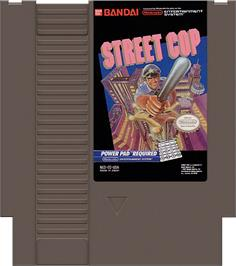 Cartridge artwork for Street Cop on the Nintendo NES.