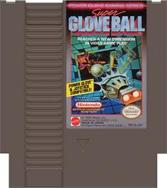 Cartridge artwork for Super Glove Ball on the Nintendo NES.