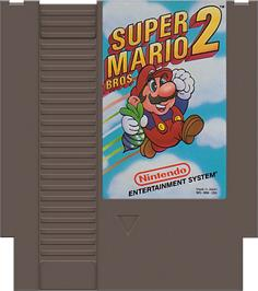 Cartridge artwork for Super Mario Bros. 2 on the Nintendo NES.