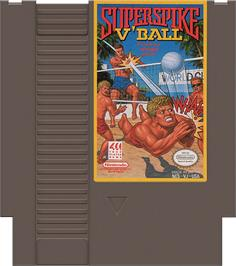 Cartridge artwork for Super Spike V'Ball / Nintendo World Cup on the Nintendo NES.