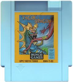 Cartridge artwork for Tagin' Dragon on the Nintendo NES.