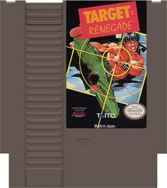 Cartridge artwork for Target Renegade on the Nintendo NES.