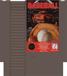 Cartridge artwork for Tecmo Baseball on the Nintendo NES.