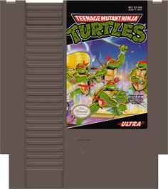 Cartridge artwork for Teenage Mutant Ninja Turtles on the Nintendo NES.
