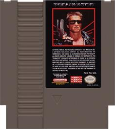 Cartridge artwork for Terminator on the Nintendo NES.