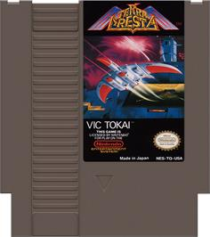 Cartridge artwork for Terra Cresta on the Nintendo NES.