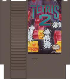 Cartridge artwork for Tetris 2 on the Nintendo NES.