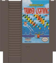 Cartridge artwork for Thunder & Lightning on the Nintendo NES.