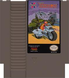 Cartridge artwork for Thundercade / Twin Formation on the Nintendo NES.