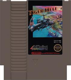 Cartridge artwork for Tiger Heli on the Nintendo NES.