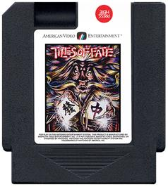 Cartridge artwork for Tiles of Fate on the Nintendo NES.