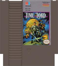Cartridge artwork for Time Lord on the Nintendo NES.