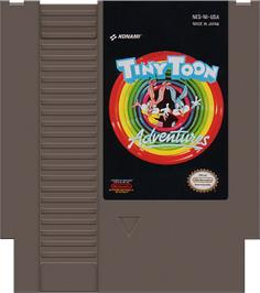 Cartridge artwork for Tiny Toon Adventures on the Nintendo NES.