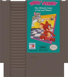 Cartridge artwork for Tom & Jerry: The Ultimate Game of Cat and Mouse on the Nintendo NES.