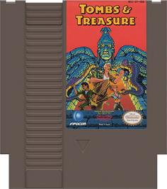 Cartridge artwork for Tombs & Treasure on the Nintendo NES.