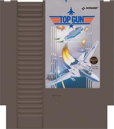 Cartridge artwork for Top Gun: The Second Mission on the Nintendo NES.