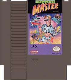 Cartridge artwork for Treasure Master on the Nintendo NES.