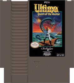 Cartridge artwork for Ultima IV: Quest of the Avatar on the Nintendo NES.