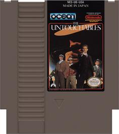 Cartridge artwork for Untouchables on the Nintendo NES.