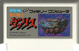 Cartridge artwork for Valis: The Fantasm Soldier on the Nintendo NES.