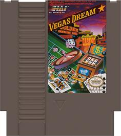 Cartridge artwork for Vegas Dream on the Nintendo NES.