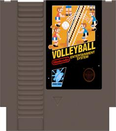 Cartridge artwork for Volley Ball on the Nintendo NES.