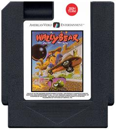Cartridge artwork for Wally Bear and the NO! Gang on the Nintendo NES.