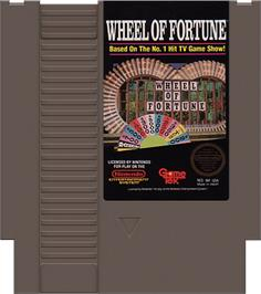 Cartridge artwork for Wheel Of Fortune: Featuring Vanna White on the Nintendo NES.