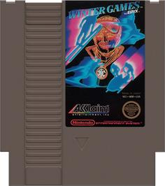 Cartridge artwork for Winter Games on the Nintendo NES.