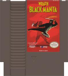 Cartridge artwork for Wrath of the Black Manta on the Nintendo NES.