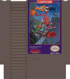Cartridge artwork for Yo! Noid on the Nintendo NES.