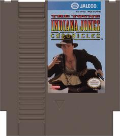 Cartridge artwork for Young Indiana Jones Chronicles on the Nintendo NES.