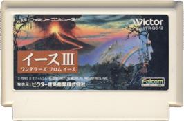 Cartridge artwork for Ys III: Wanderers from Ys on the Nintendo NES.