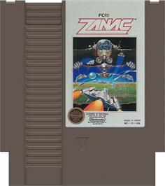 Cartridge artwork for Zanac A.I. on the Nintendo NES.